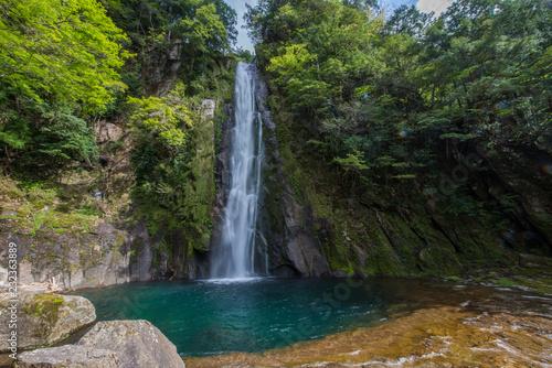 Foto op Aluminium Watervallen Waterfall deep inside forest