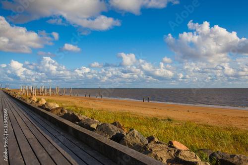 Fotografia  On the empty beach, Hjerting, Jutland, Denmark.