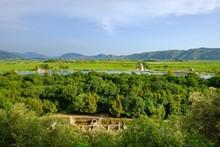 Ancient City Butrint With Surroundings, Vivar Canal, Butrint National Park, Near Saranda, Qark Vlora, Albania, Europe