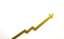 Gold Graph Arrow Of Improvemen...