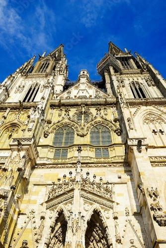 Details of the Regensburg Cathedral, Regensburg, East Bavaria, Lower Bavaria, Bavaria, Germany, Europe
