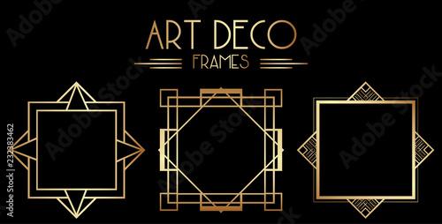 Fotografia  Geometric Gatsby Art Deco Border or Frame Design