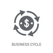 Business cycle icon. Trendy Business cycle logo concept on white background from business collection