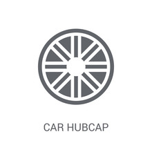 Car Hubcap Icon. Trendy Car Hu...