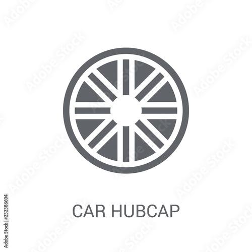 Fotografie, Obraz  car hubcap icon