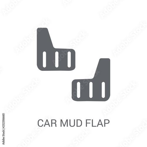 Foto car mud flap icon