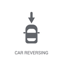 Car Reversing Light Icon. Trendy Car Reversing Light Logo Concept On White Background From Car Parts Collection