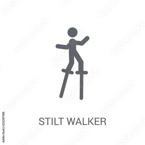 Stilt walker icon Tablou Canvas