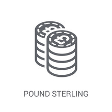 Pound Sterling Icon. Trendy Po...