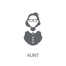 Aunt Icon. Trendy Aunt Logo Co...