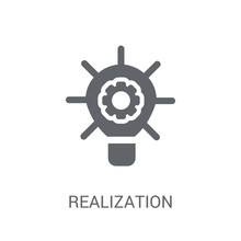 Realization Icon. Trendy Realization Logo Concept On White Background From General Collection