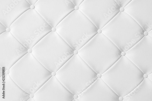 Poster Macarons Light white luxury upholstery sofa texture background concept for clean gray vintage leather furniture pattern wallpaper, closeup interior elegant armchair mattress surface detail, real tuft material.