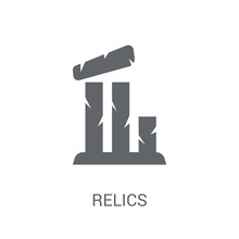 Relics Icon. Trendy Relics Logo Concept On White Background From Museum Collection