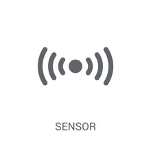 Sensor Icon. Trendy Sensor Logo Concept On White Background From Smarthome Collection
