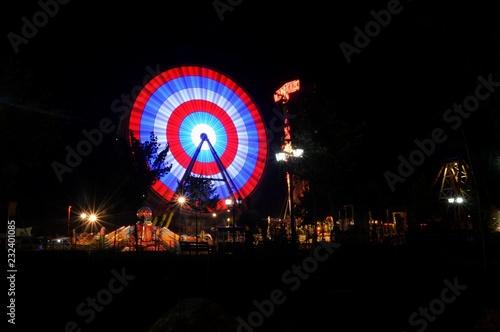 Foto op Aluminium Carnaval funfair night