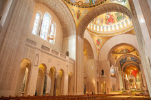 Interior Of The Basilica Of The National Shrine In Washington DC
