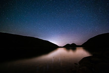 Jordan Pond Under A Starry Night