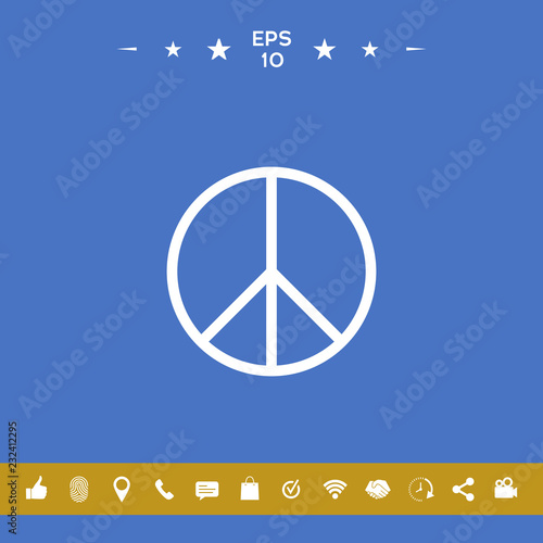 Foto  Peace sign symbol