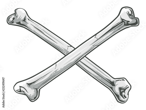 Crossed  Bones Tablou Canvas
