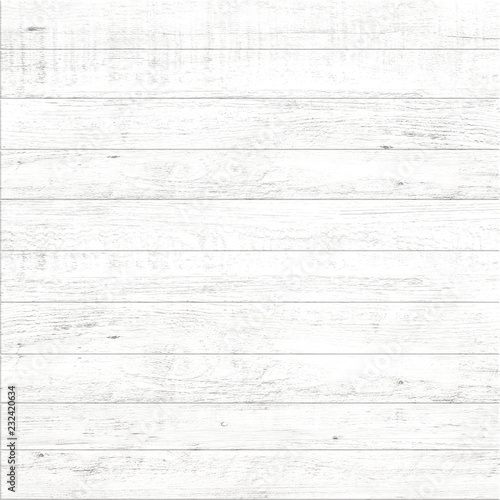 Poster Bois White wood pattern and texture background.