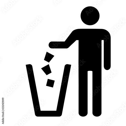 Garbage symbol. Do not litter sign. Wallpaper Mural