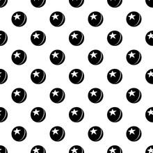 Glossy Star Ball Pattern Vecto...