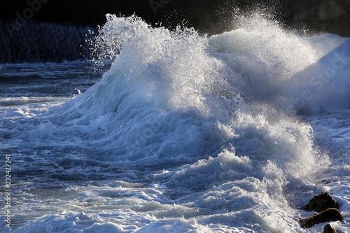 Stickers pour portes Eau texture storm surf waves