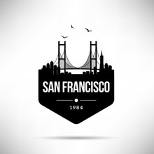 San Francisco City Modern Skyline Vector Template