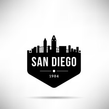 San Diego City Modern Skyline Vector Template