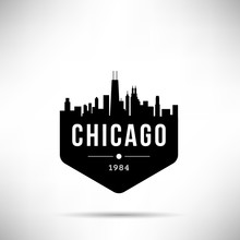 Chicago City Modern Skyline Vector Template