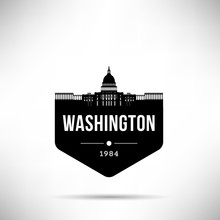 Washington City Modern Skyline Vector Template