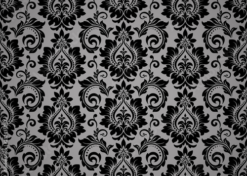 Wallpaper In The Style Of Baroque Seamless Vector
