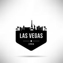 Las Vegas City Modern Skyline Vector Template
