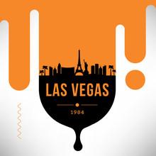 Las Vegas Modern Web Banner Design With Vector Skyline