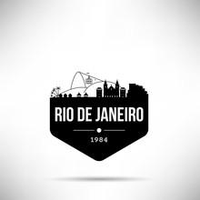 Rio De Janeiro City Modern Skyline Vector Template