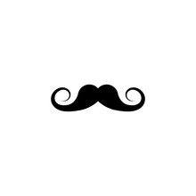 Fake Moustache Simple Black Ic...