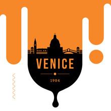 Venice Modern Web Banner Design With Vector Linear Skyline
