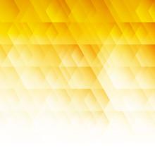 Abstract Geometric Hexagon Pattern Yellow Background