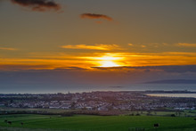 Sunset Over Troon In South Ayr...