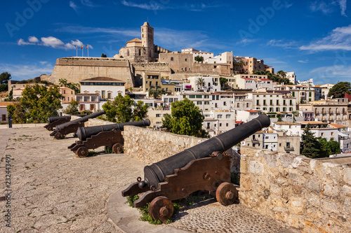 The Dalt Vila, the old part of Ibiza Town