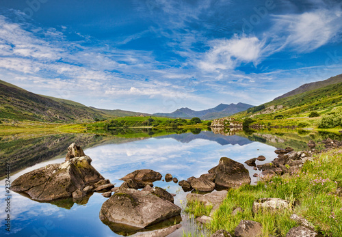 Snowdon from Llynau Mymbyr, near Capel Curig, Wales Wallpaper Mural
