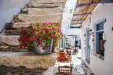 Fototapeta Na drzwi - Traditional street on Naxos, Greece