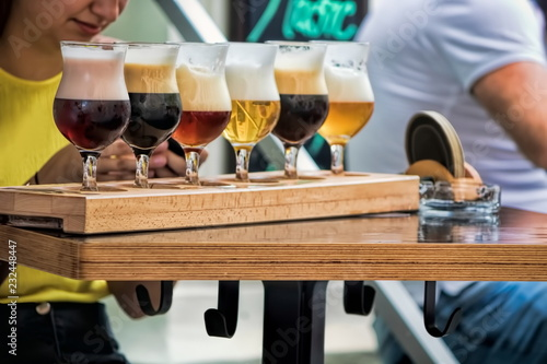 Deurstickers Bier / Cider Bierprobe