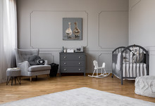Grey Chest Of Drawers In The M...