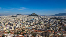 Athens From Acropolis Showing ...