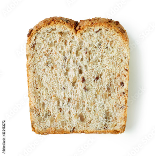 Canvas single slice of bread