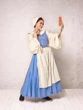 Medieval Woman In Historical C...