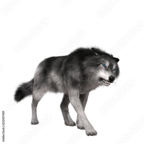 Fotografie, Obraz  Digital 3D Illustration of a Wolf