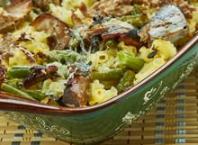 Chicken, Mushroom And Green Bean Casserole