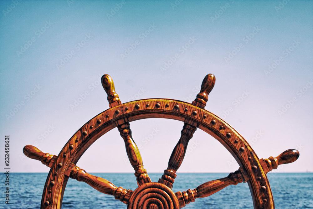 Fototapety, obrazy: Steering wheel ship